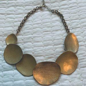 Chloe + Isabel Gold Textured Disk Necklace